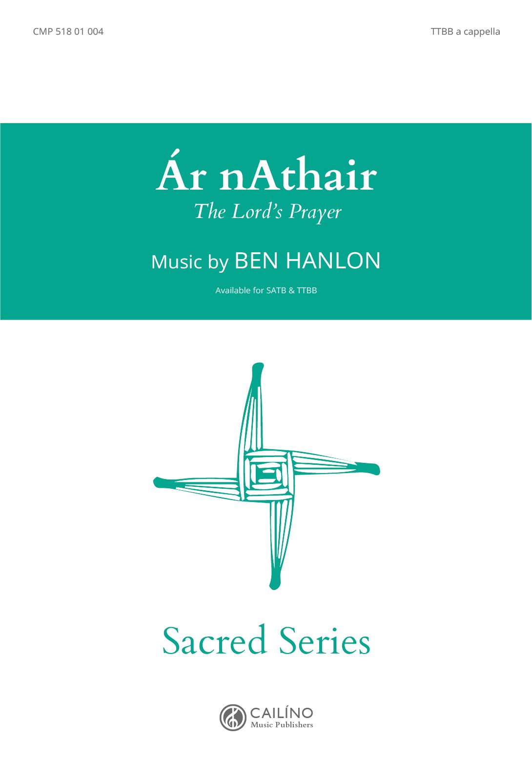 Ar nAthair TTBB Score Cover
