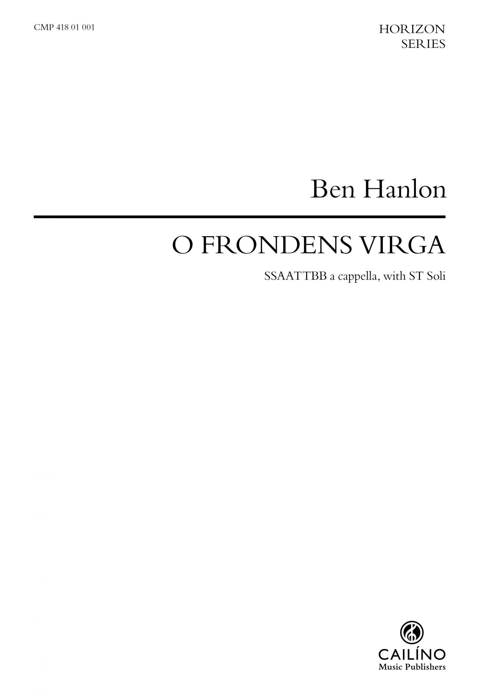O Frondens Virga Score Cover