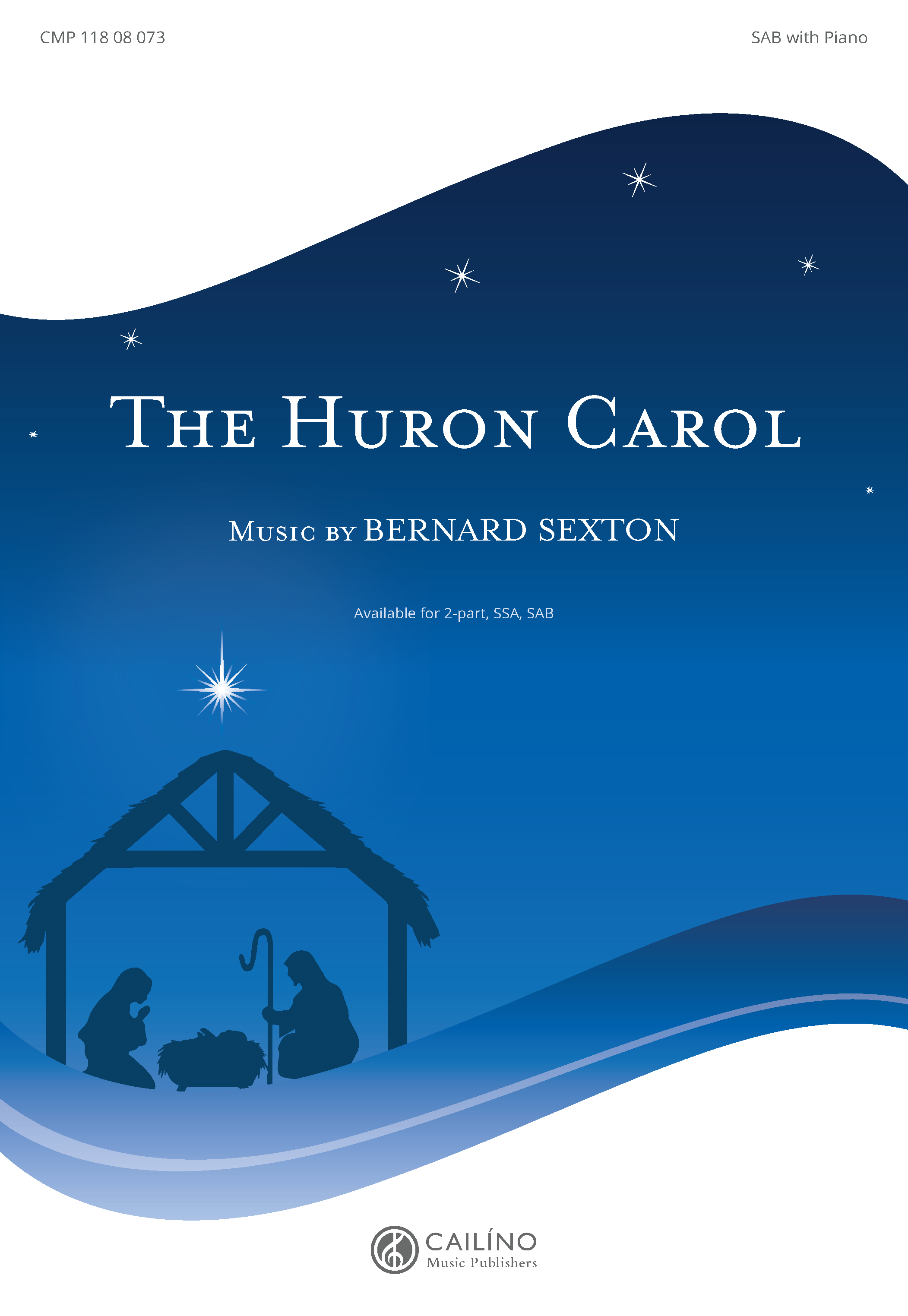 The Huron Carol SAB Cover