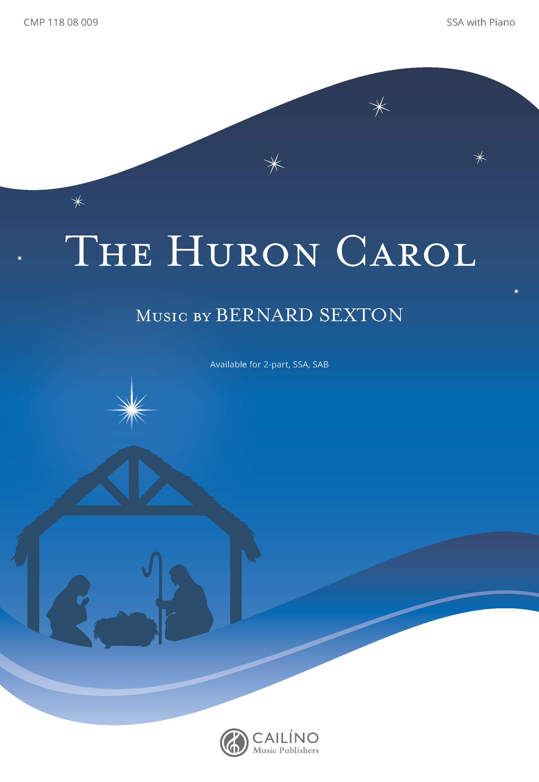 The Huron Carol SSA Cover